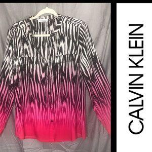 Calvin Klein: Roll Tab Button Front Top